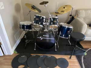 Tama Drum Set with Meinl cymbals / Vic firth silencers for Sale in Schaumburg, IL