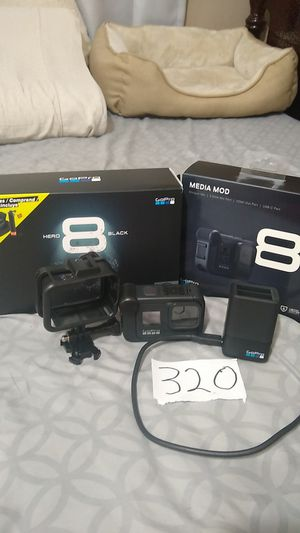 Gopro hero 8 + media mod+ protective case+battery charger for Sale in Vallejo, CA