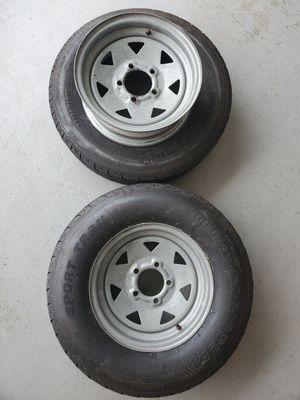 2 Carlisle sport trailer tires for Sale in Temecula, CA