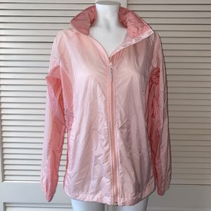 Columbia Packable Size M Pink Wind Breaker Jacket With Hide-able Hood for Sale in Los Angeles, CA