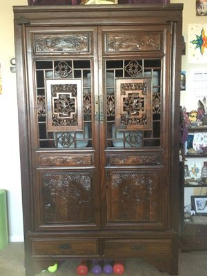 Antique Hand Made Wooden Armoire for Sale in Surprise, AZ