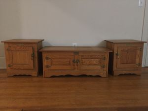 2 side tables and cabinet GOTTA GO for Sale in Baltimore, MD