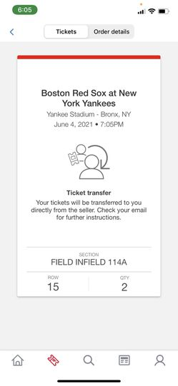 NY Yankees and Boston Red Sox Tickets @ Yankee Stadium  for Sale in Rockville, MD