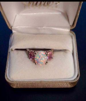 Opal & PinkTourmaline Silver Ring for Sale in Fairfax, VA