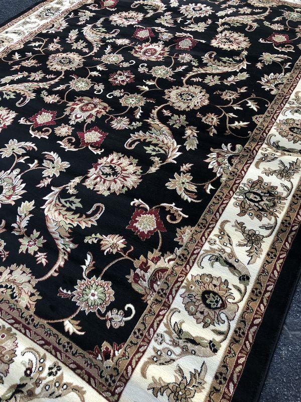 Brand new area rug size 8x11 nice black carpet