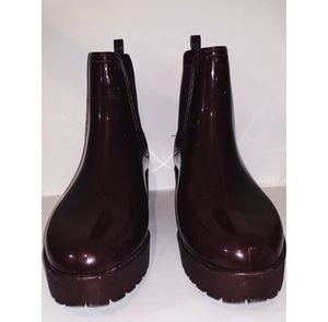 Jeffrey Campbell cloudy maroon shiny rain boots for Sale in Chapel Hill, NC