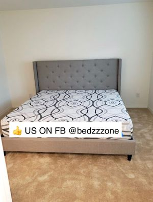 TWIN, FULL, QUEEN, KING, CAL KING PLATFORM BED FRAME WITH TUFTED HEADBOARD for Sale in Danville, CA