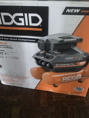 Ridgid compresor 4.5 gallón for Sale in Hyattsville, MD