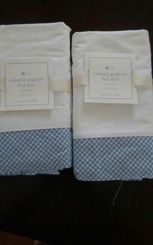 2 brand new pottery barn baby crib skirt for Sale in Orlando, FL