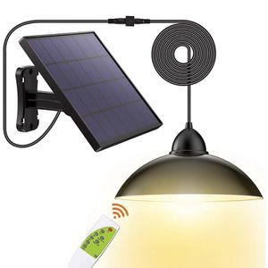 Solar Lights Outdoor-Security Led-IP65 Powered-Pendant - Porch Light with 16.4Ft Cord Remote Control 270°Wide Adjustable Solar Panel for Home Yard Gar for Sale in Brooklyn, NY