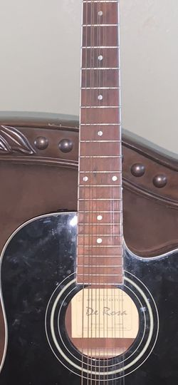 Black De Rosa 12 String Guitar for Sale in Avondale,  AZ