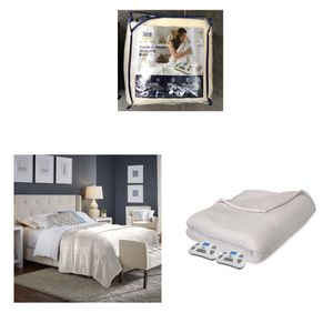 Serta Comfort Plush Electric Heated Blanket with programable digital controller, Queen, Ivory for Sale in Stafford, TX