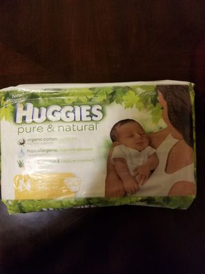 Huggies pure & natural N 30 diapers for Sale in Germantown, MD