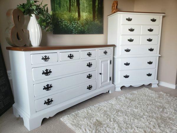 Two beautiful, farmhouse style dressers