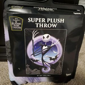nightmare before christmas throw for Sale in Apple Valley, CA