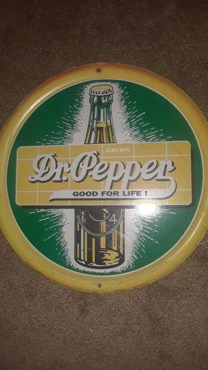 Rare 1940 s Dr .Pepper Fountain Sign for Sale in Denton, TX