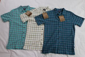 NWT LOT OF 3 Patagonia Men's A/C Casual Dress Shirts Teal Cream Green Size X/S USA for Sale in Houston, TX