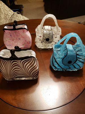 Solid glass decorative handbags for Sale in Pompano Beach, FL
