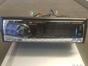 Alpine cd/xm car stereo receiver for Sale in Pine, AZ