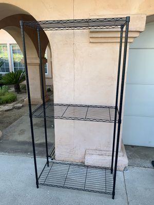 Industrial Wire Shelf Rack Black 36x18x72 3-Tier for Sale in Hacienda Heights, CA
