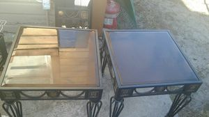 Two Glass Top end tables for Sale in Tampa, FL