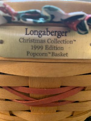 Longaberger Popcorn XMas 1999 Basket for Sale in Lewisville, TX