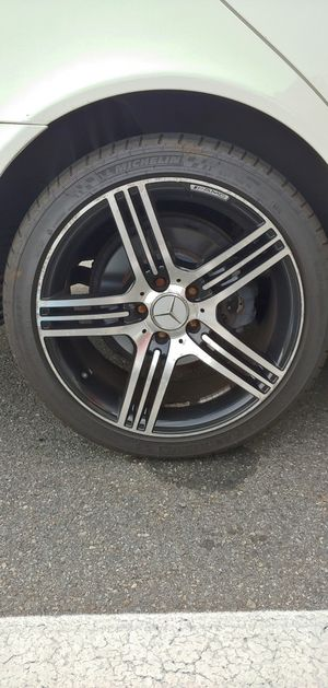 """18"""" mercedes rims and tires for Sale in Woburn, MA"""