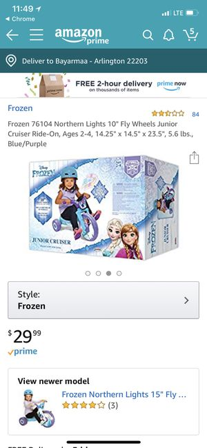 Frozen kids bike for Sale in Arlington, VA