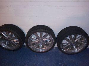 22 inch Foose rims w/low profile tires for Sale in Los Angeles, CA