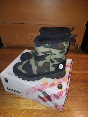 Men Size 8-9 Bathing Ape Boots 10/10 Condition IF YOU GET EM TODAY I GOT YOU FOR $50 SINCE Everybody Bluffing for Sale in Laurel, MD