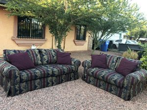 Set of 2 couches $220 delivery free for Sale in Phoenix, AZ