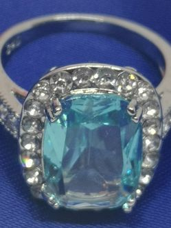 New Ring 💍 Silver .8-sz. Blue 💙 Apatite. for Sale in Wellesley,  MA