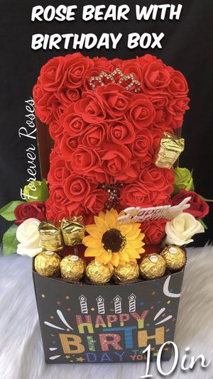 Beautiful Gift Box 🎁 with Rose Bear 🐻. Same Day Pick Up Is Available. ⬇️ Please Read Below ⬇️ for Sale in Lynwood, CA