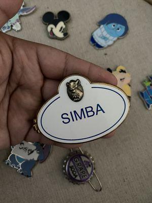 Simba name tag pin Disney for Sale in Pasadena, CA