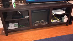 Tv stand with fire place for Sale in Boston, MA