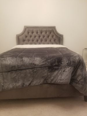 Queen Bed Frame with Mattress and Box spring for Sale in Richmond, VA
