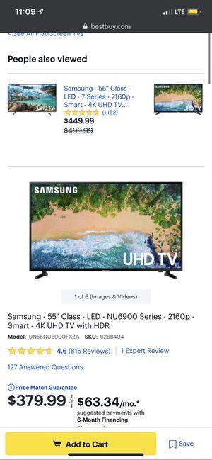 55 Inch Samsung TV, Yamaha Soundbar and Sub, Sony Soundbar and Sub for Sale in Parma, OH