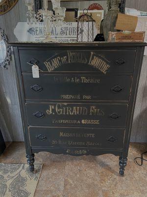 Black Paris Theme Antique Dresser for Sale in Milwaukie, OR