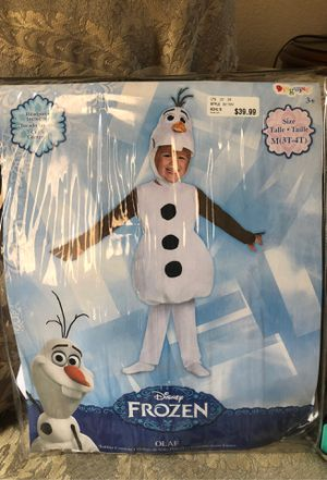 3T-4T Disney Frozen Olaf Costume New Never Used for Sale in Garland, TX