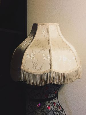 White vintage lamp shade for Sale in Culver City, CA
