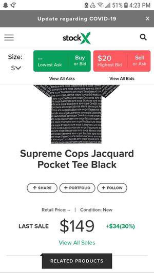 Supreme Cops Pocket Tee black for Sale in Phoenix, AZ