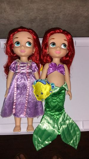 Disney Animators Collection Ariel Dolls Set $10 For Both for Sale in Costa Mesa, CA