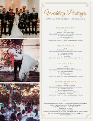 Wedding Photo Packages for Sale in Selma, CA