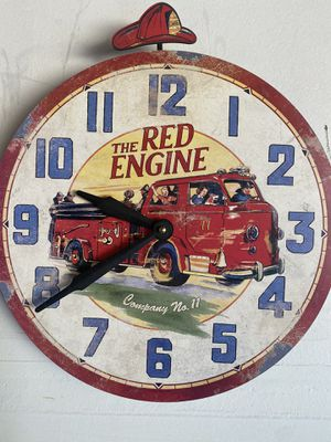 Fire truck 13 inches wall clock for Sale in Woodland, CA