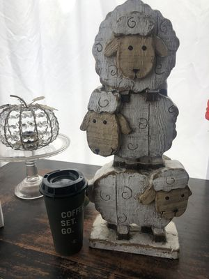 SUPER CUTE SOLID WOOD 3 LAMBS home decor for Sale in Simi Valley, CA