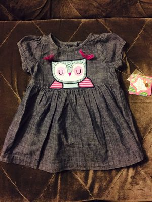 Baby Girl Denim Owl Dress Size 12 Months for Sale in San Diego, CA