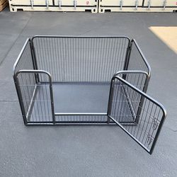 $85 (new in box) heavy duty pet playpen with plastic tray, dog cage kennel 4 panels, 49x32x28 inches for Sale in Pico Rivera,  CA