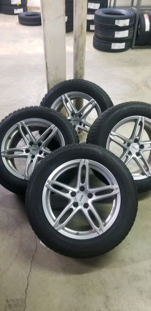 Snow tires and rims (Porch ,Volkswagen,Volvo and Audi) 5x130 for Sale in DORCHESTR CTR, MA