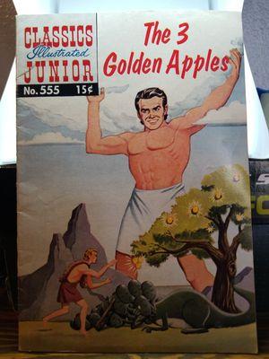 CLASSICS ILLUSTRATED JUNIOR #555 OCTOBER 1958 THE 3 GOLDEN APPLES for Sale in Mesa, AZ