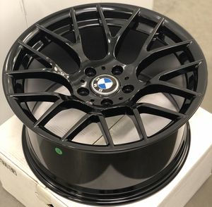 """Brand new 18"""" staggered gloss black BMW style concave wheels 5x120 all 4 READ DESCRIPTION!! PRICE FIRM!! for Sale in West Covina, CA"""